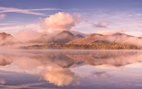 Обои облака, горы, озеро, Англия, Камбрия