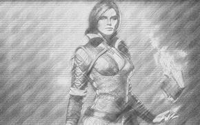Картинка Девушка, Ведьмак, Красавица, Трисс Меригольд, The Witcher 3 Wild Hunt, The Witcher 3