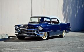 Картинка Eldorado, Cadillac, vintage, convertible, blue, old, classic, 1955