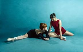 Картинка фон, девушки, балерины
