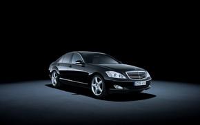 Обои S 500, фон, Mercedes-Benz