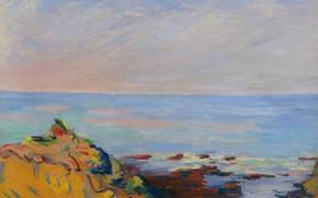 Картинка море, пейзаж, картина, Арман Гийомен, Armand Guillaumin, Сен-Пале. Морское Побережье