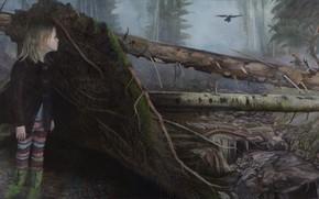 Картинка картина, норвежский художник, Christer Karlstad, Crossings