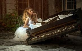 Обои ноты, музыка, пианино, Karina Bratkowska