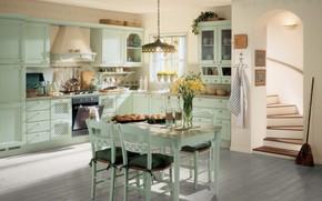 Картинка интерьер, кухня, столовая, стиль Прованс