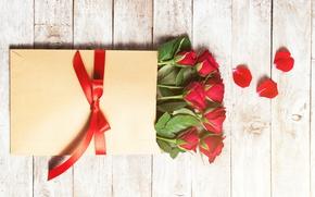 Картинка розы, лепестки, red, love, бутоны, flowers, romantic, gift, roses, красные розы, valentine`s day