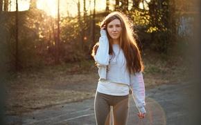 Картинка лето, взгляд, девушка, волосы, ножки, Natalia