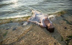 Картинка вода, девушка, ситуация, утопленница