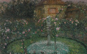 Картинка пейзаж, картина, Henri Le Sedaner, Анри Ле Сиданэ, Павильон. Жерберуа