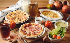 Картинка овощи, пицца, начинка, ассорти