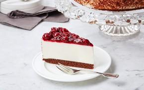 Картинка вишня, торт, чизкейк