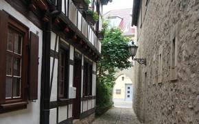 Картинка Германия, Улочка, Здание, Germany, Street, Эрфурт, Erfurt