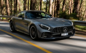 Обои Mercedes-Benz, скорость, суперкар, AMG, 2018, GT R