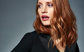 Картинка актриса, рыжая, Jessica Chastain