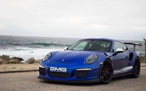 Картинка 911, Porsche, Blue, GT3RS