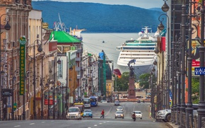 Картинка порт, лайнер, Владивосток