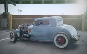 Картинка машина, арт, форд, ford 32 redux, christophe desse