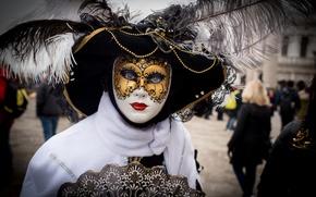 Картинка перья, маска, Венеция, наряд, карнавал