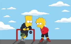 Картинка Симпсоны, Рисунок, Адидас, Simpsons, Барт, Арт, Adidas, Лиза, Nike, Мультфильм, The Simpsons, Найк, Персонаж, Lisa, …