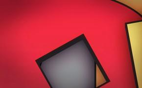 Обои квадрат, линии, объем, угол, краски, слой