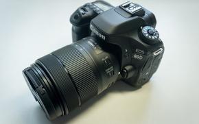Картинка black, photography, canon, Canon, eos, lens, EOS, Nano, dslr, DSLR, Eos, 80d, USM, 80D, 18-135mm, …
