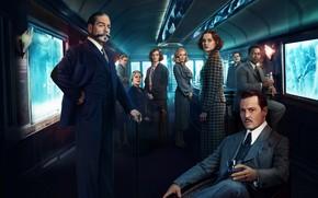 Обои Penelope Cruz, Kenneth Branagh, Murder on the Orient Express, Michelle Pfeiffer, Джуди Денч, Пенелопа Крус, ...