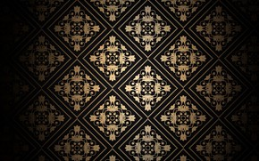 Обои текстура, wallpaper, golden, elegant, орнамент