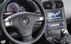 Картинка Chevrolet, руль, ZR1, corvette, салон