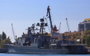 Картинка корабль, большой, противолодочный, проект 1155, Вице Адмирал Кулаков
