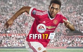 Картинка Chevrolet, sport, logo, lion, stadium, football, crowd, Manchester United, Fifa, player, Electronic Arts, fans, EA …