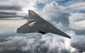 Картинка US Air Force, sky, aircraft, FX, Boeing FX, fighter, Boeing, clouds, kumo