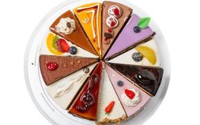 Обои десерт, еда, украшение, сладкое, торт