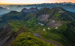 Обои горы, горизонт, Альпы, Швейцария