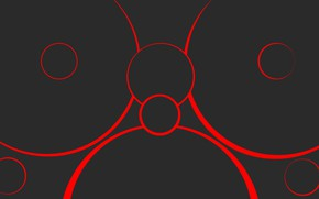 Картинка abstract, red, circles, neutral