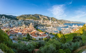 Картинка город, день, Монако