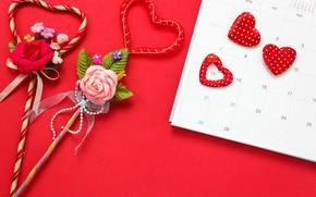 Картинка Цветы, Любовь, Сердечки, Праздник, День влюбленных