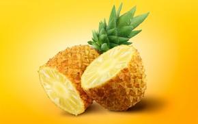 Картинка макро, фрукты, ананас