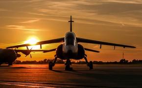 Обои аэродром, Alpha Jet, штурмовик, реактивный, рассвет, лёгкий