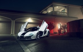 Обои KARTUNZ, Front, Supercar, 650S, White, McLaren