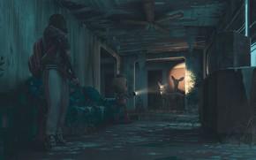 Картинка дом, оружие, робот, вентилятор, олень, фонарик, home