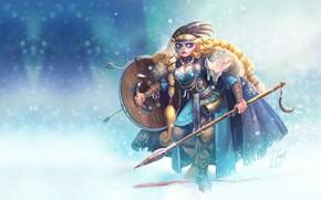 Картинка девушка, арт, викинг, Sighild, Jeremie Fleury