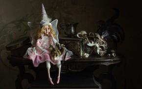 Картинка кукла, маска, фея