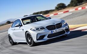 Картинка движение, купе, скорость, трасса, BMW, 2018, F87, M2, M2 Competition
