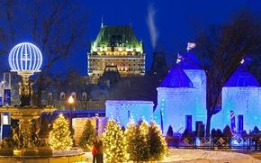 Картинка Канада, Квебек, Ледовый дворец, Зимний карнавал, Боннем