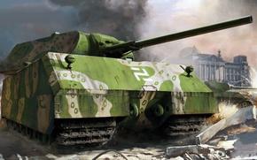 Картинка Мышь, Маус, Panzerkampfwagen VIII, Porsche Typ 205, Sd.Kfz 205, сверхтяжёлый танк