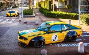 Обои свет, город, улица, McLaren, фотограф, Mazda, Liberty Walk, 650S, RX-3, LBW, Dino Dalle Carbonare