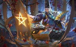 Картинка star, anime, power, tree, asian, japanese, oriental, asiatic, powerful, foret, mahou, Onmyouji