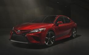 Обои Red, Toyota, Camry, 2017, XSE