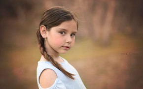 Картинка портрет, девочка, боке, Carmen Gabaldon
