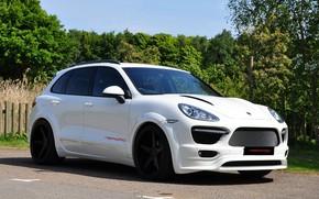 Картинка Porsche, 2011, White, Cayenne, Merdad